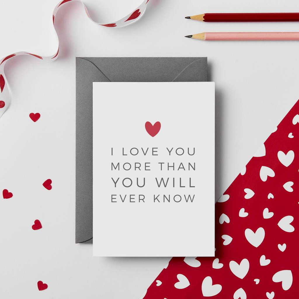 I Love You More Valentines Card - Studio 9 Ltd