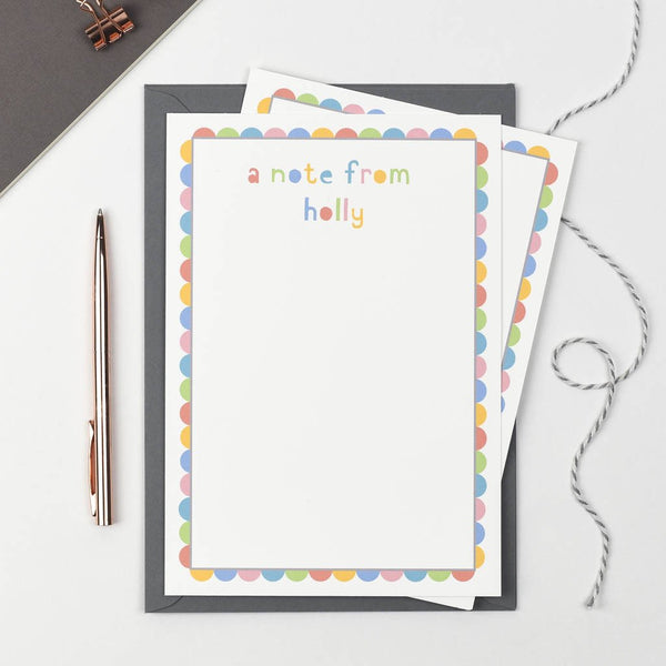 Personalised 'A Note From' Writing Set