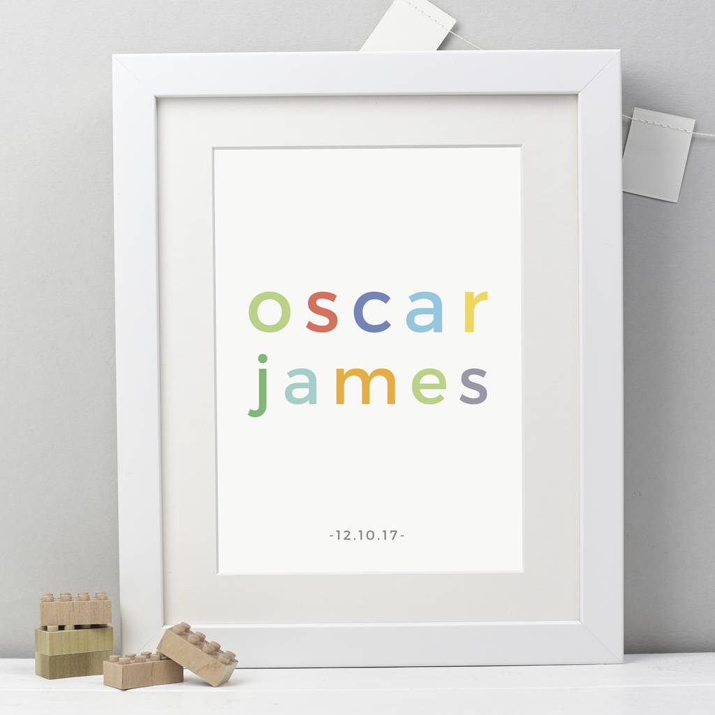 Personalised Childs Name Print - Studio 9 Ltd