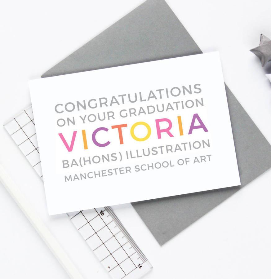 Personalised Graduation Card - Studio 9 Ltd