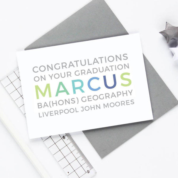 Personalised Graduation Card