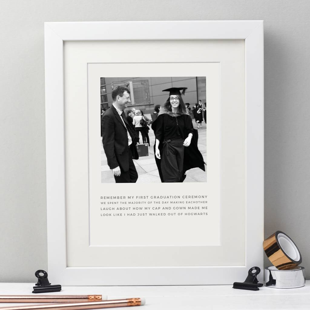 Personalised Graduation Photo Story Print