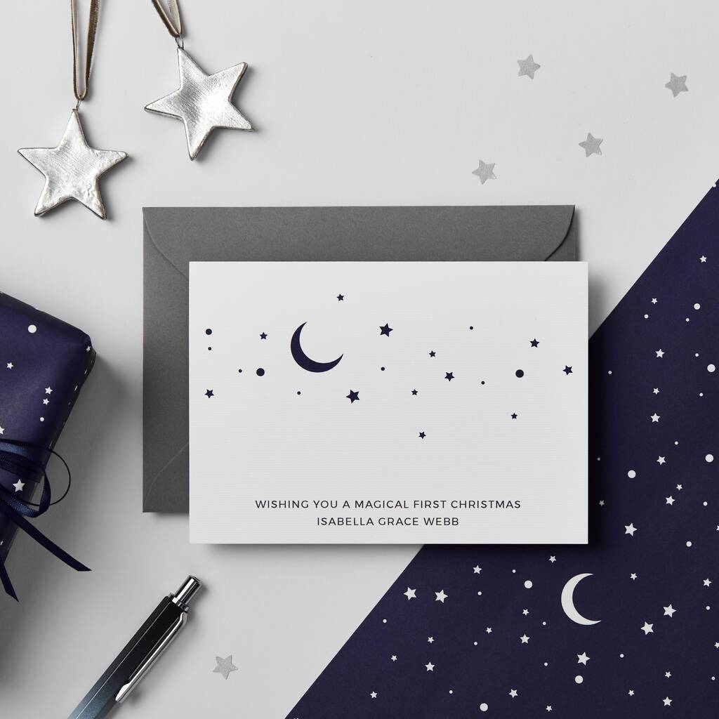 Personalised Magical First Christmas Card - Studio 9 Ltd