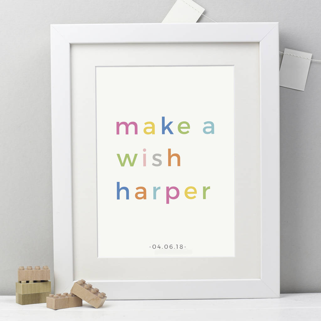 Personalised Make A Wish Print