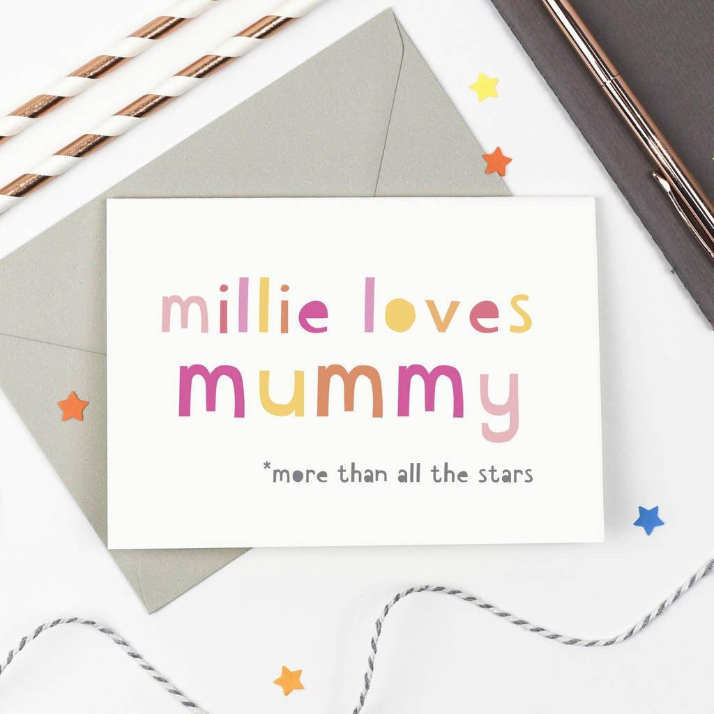 Personalised 'Loves Mummy' Mother's Day Card - Studio 9 Ltd