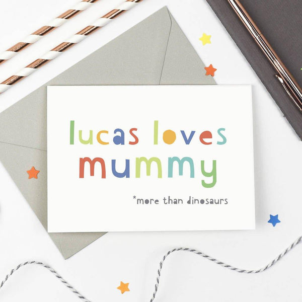 Personalised 'Loves Mummy' Mother's Day Card