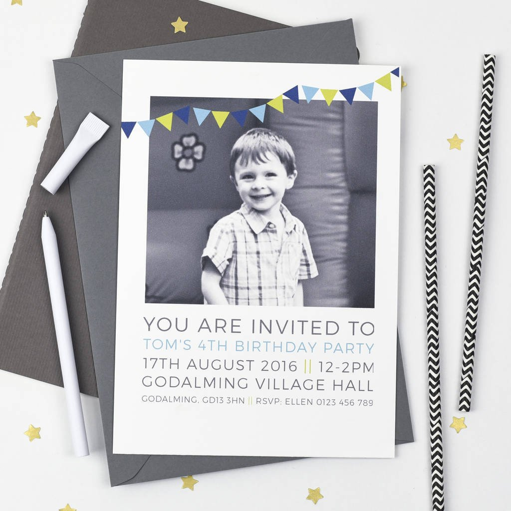 Personalised Photo Birthday Party Invitations - Studio 9 Ltd