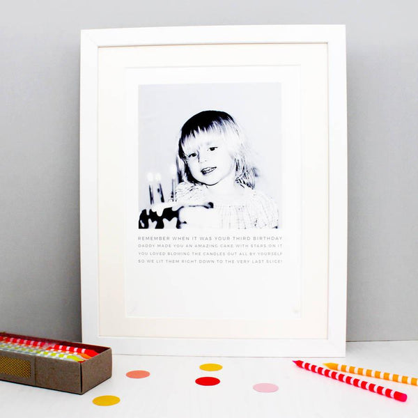 Personalised Photo Story Print