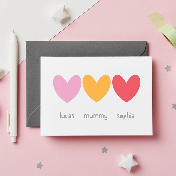 Personalised Siblings Mother's Day Card - Studio 9 Ltd