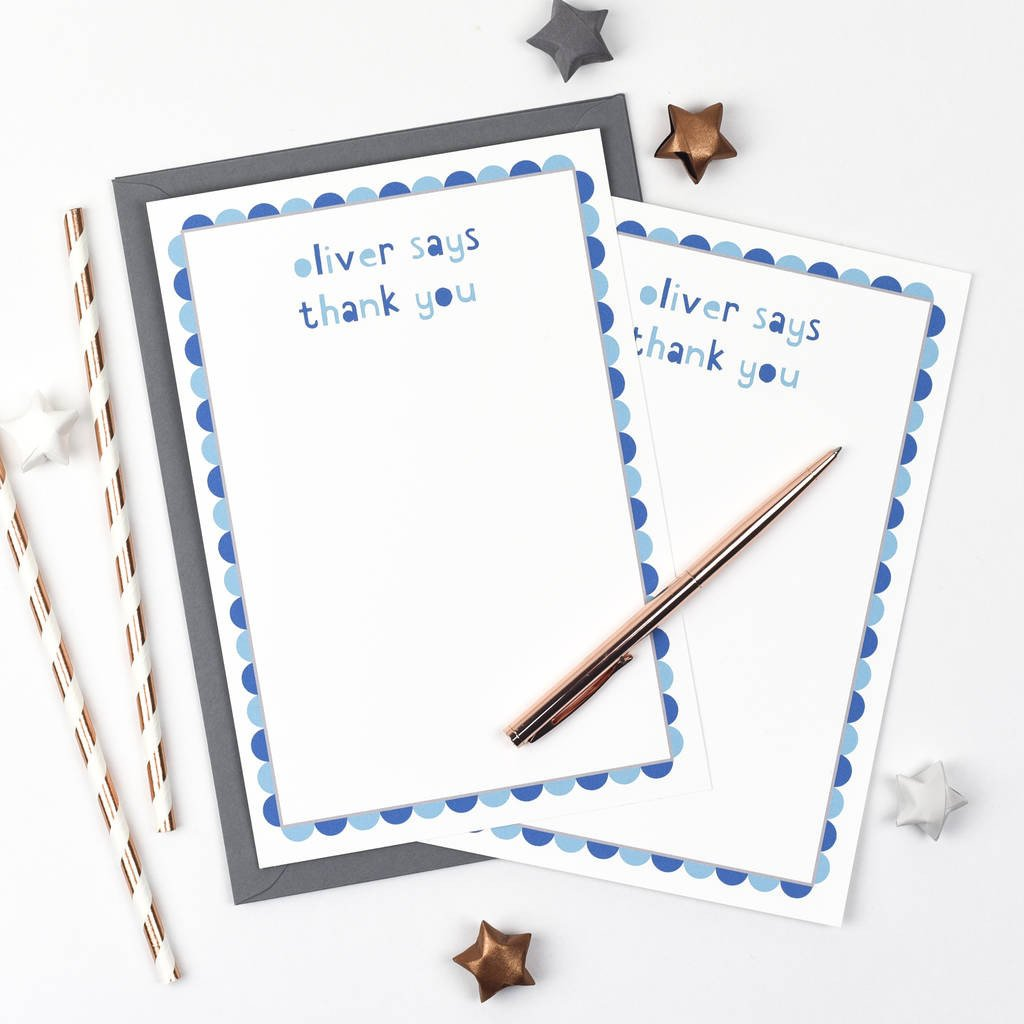Personalised 'Thank You' Writing Set