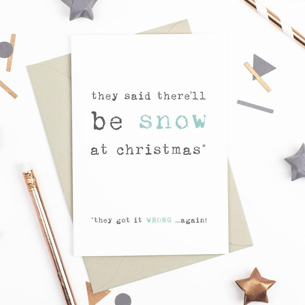 'There'll be Snow' Christmas Card - Studio 9 Ltd