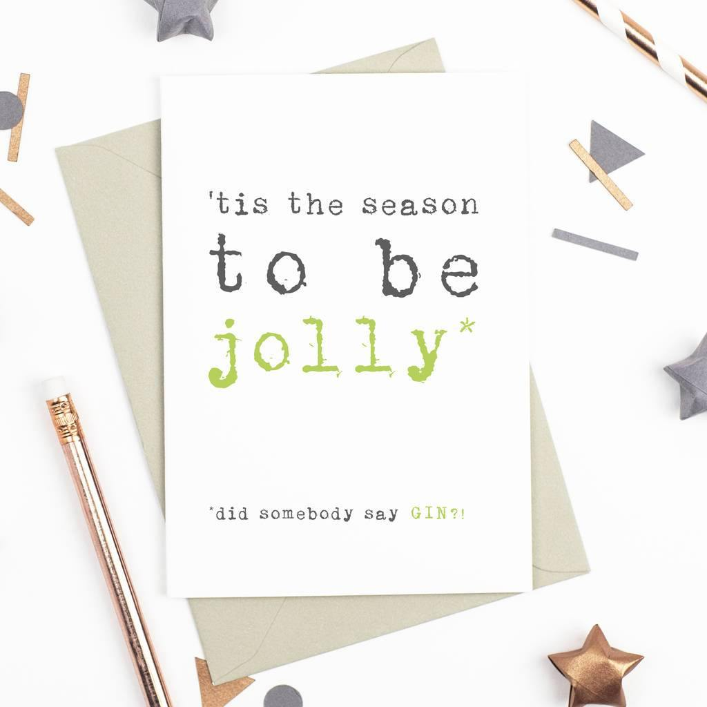 'Tis The Season' Christmas Card - Studio 9 Ltd