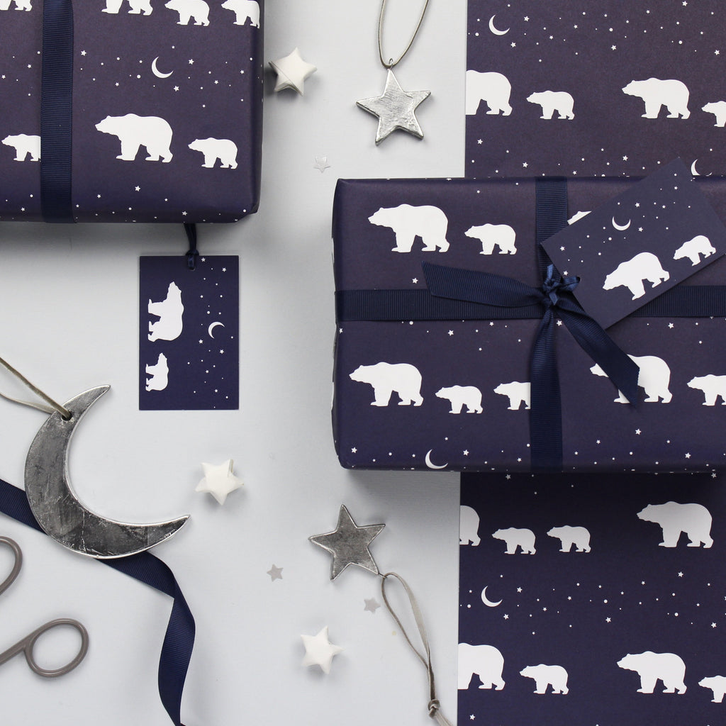 Polar Bears Christmas Gift Wrap Set
