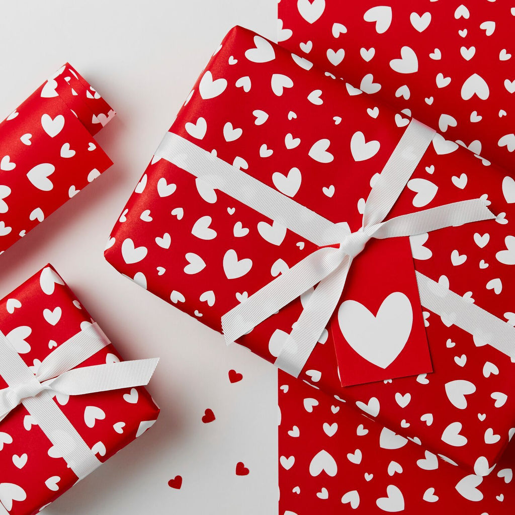 Love Hearts Wrapping Paper Set - Studio 9 Ltd