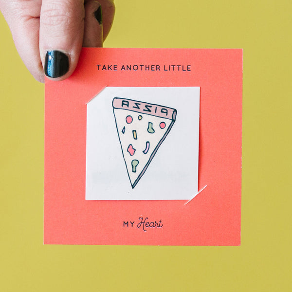 Pizza My Heart Tattoo Card Pack