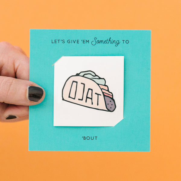 Taco 'Bout It Tattoo Card Pack