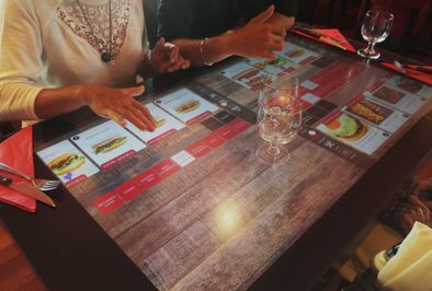 Touch table for restaurant – Arte Futuremag