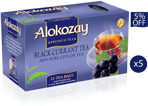 Blackcurrant Tea - 25 Tea Bags x 5