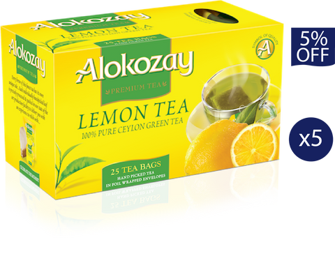 Lemon Green Tea - 25 Tea Bags x 5