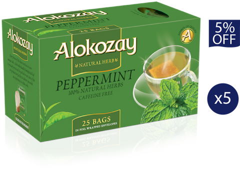 Peppermint - 25 Tea Bags x 5