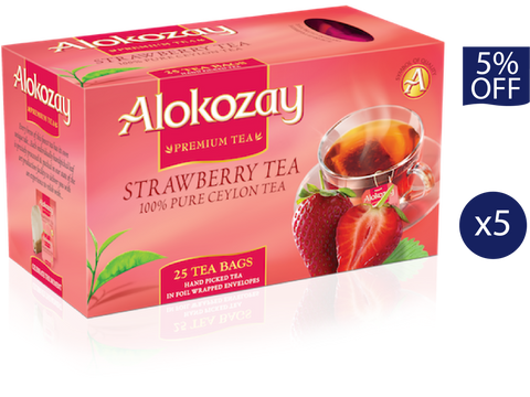 Strawberry Tea - 25 Tea Bags x 5