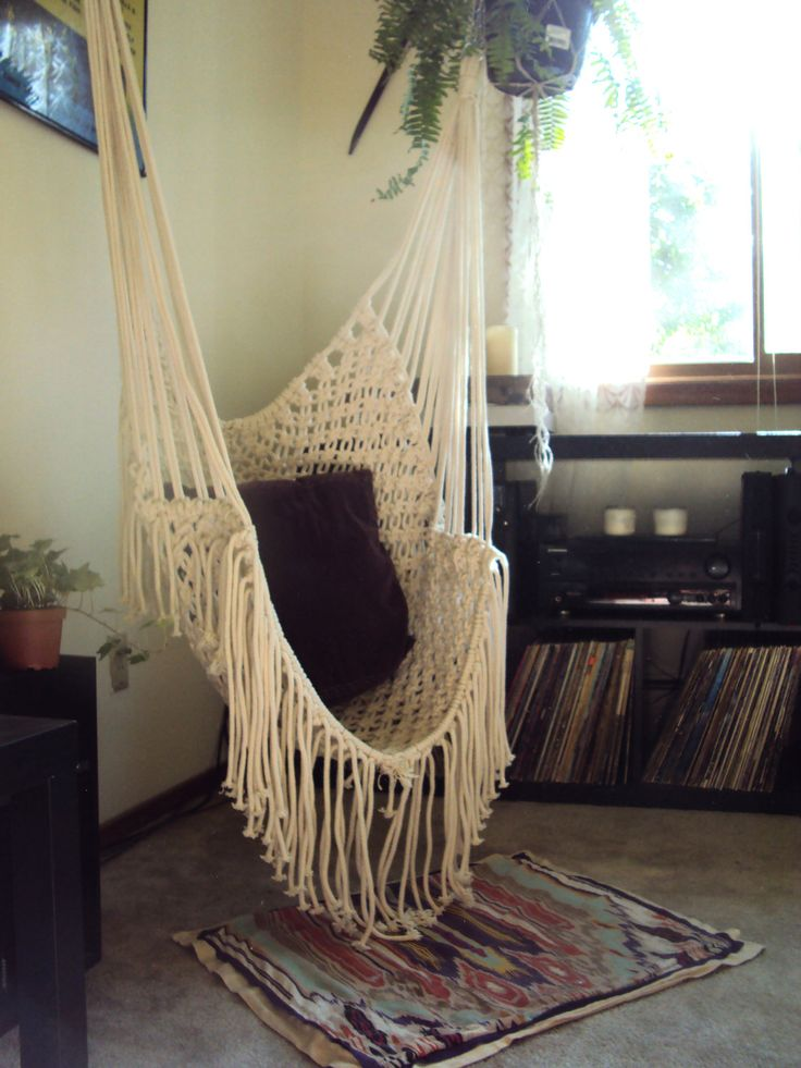 Indoor hammock swing chair ideas for Indoor hanging chair for bedroom