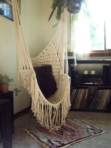 macrame hammock chair spreader bar