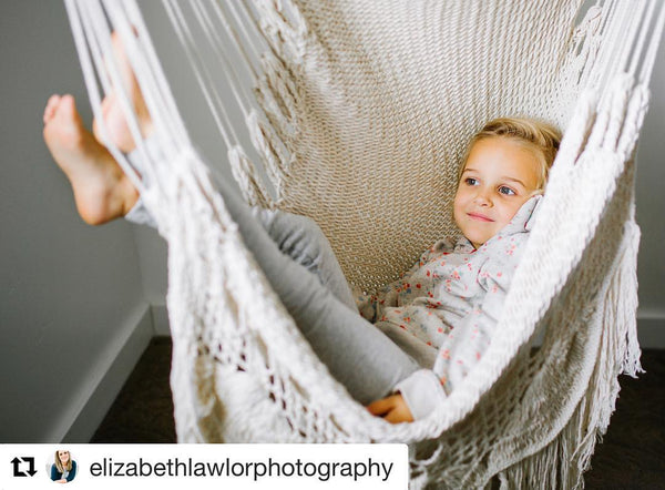 Hanging Hammock Chair With Macrame **Solid Color** Swing Chair Mission Hammocks - Mission Hammocks
