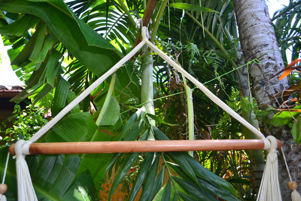 Hanging Hammock Chair With Macrame **Solid Color** Swing Chair Mission Hammocks - Mission Hammocks - 4