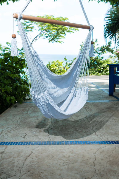 Mission Hammocks Hanging Hammock Chair Organic Cotton - Bright White - Mission Hammocks