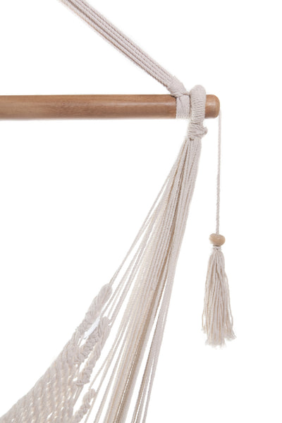 Mission Hammocks Hanging Hammock Chair Organic Cotton - Bright White - Mission Hammocks - 3