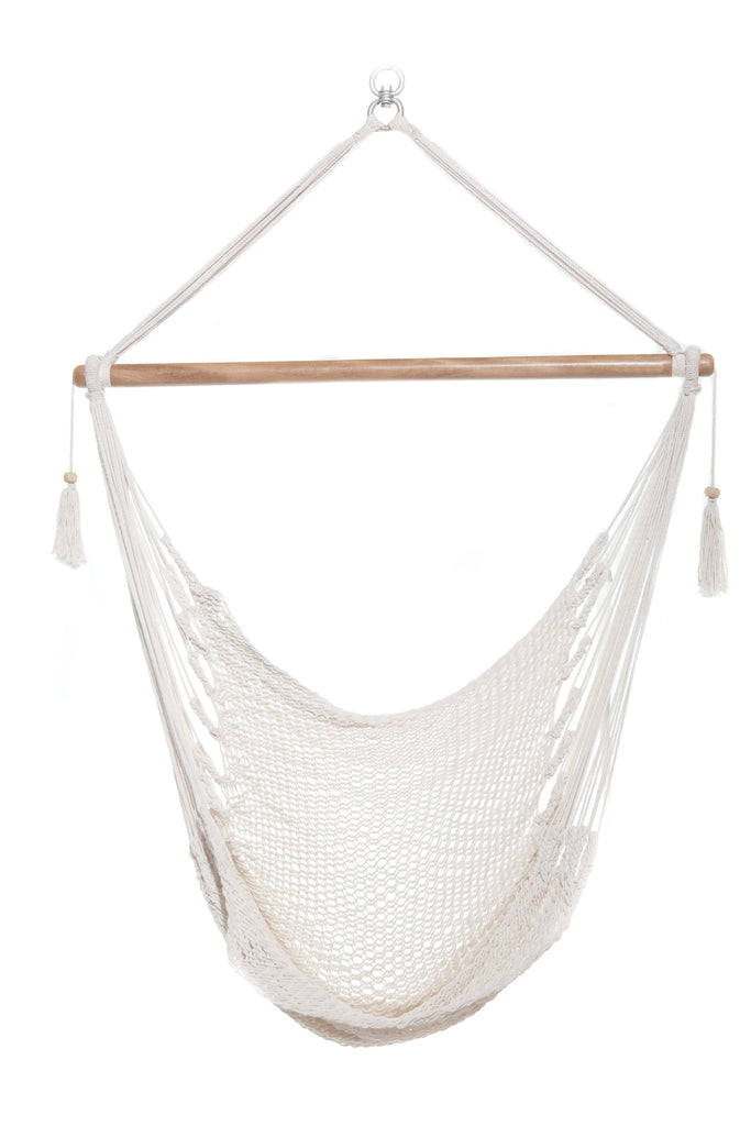 Mission Hammocks Hanging Hammock Chair Organic Cotton - Bright White - Mission Hammocks - 1