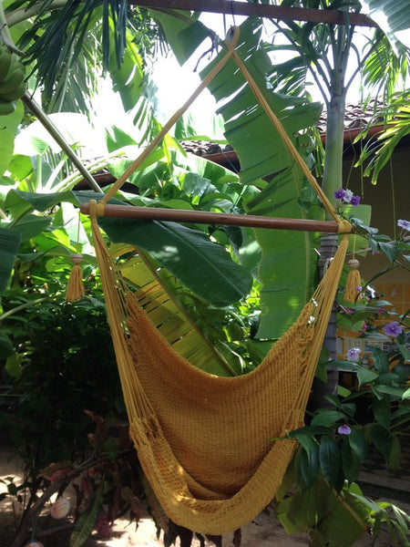 Mission Hammocks Hanging Hammock Chair Organic Cotton - Yellow - Mission Hammocks - 1