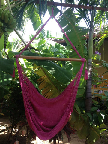 Mission Hammocks Hanging Hammock Chair Organic Cotton - Pink - Mission Hammocks