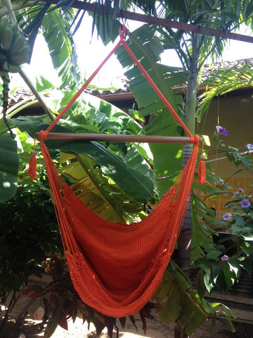Mission Hammocks Hanging Hammock Chair Organic Cotton - Orange - Mission Hammocks - 1
