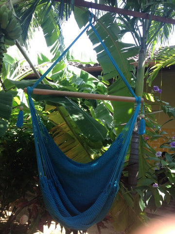 Mission Hammocks Hanging Hammock Chair Organic Cotton - Light Blue - Mission Hammocks - 1