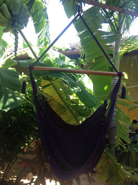 Mission Hammocks Hanging Hammock Chair Organic Cotton - Purple - Mission Hammocks - 1