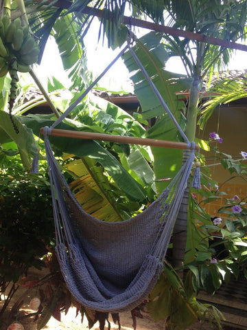 Mission Hammocks Hanging Hammock Chair Organic Cotton - Grey - Mission Hammocks