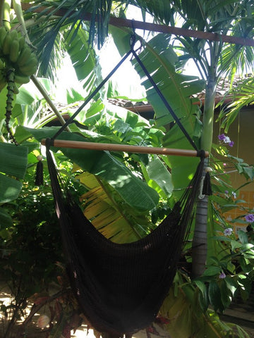 Mission Hammocks Hanging Hammock Chair Organic Cotton - Black - Mission Hammocks - 1