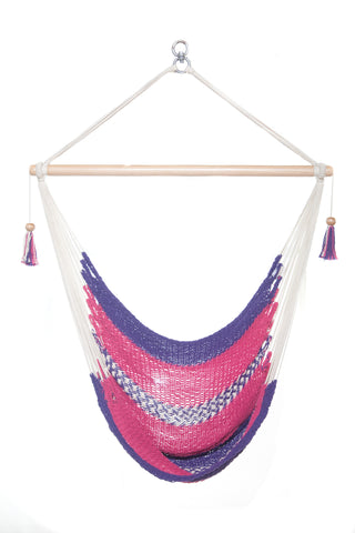 Mission Hammocks Hanging Hammock Chair - Pink and Purple - Mission Hammocks