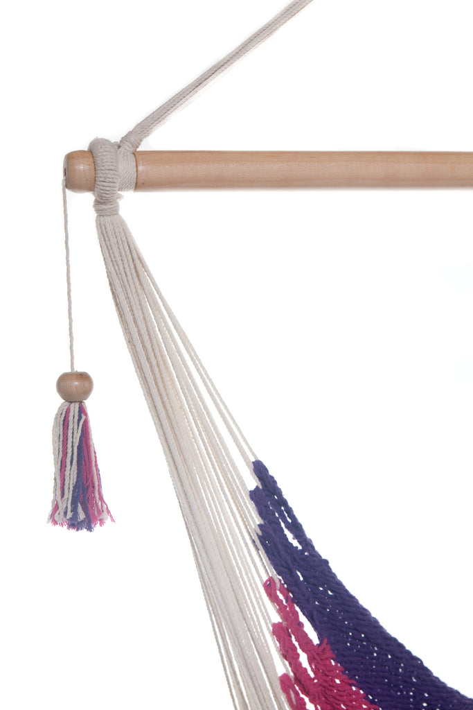... Mission Hammocks Hanging Hammock Chair   Pink And Purple   Mission  Hammocks ...