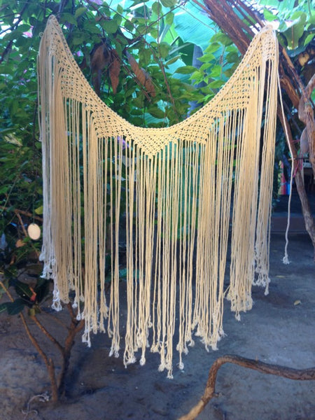 Macrame Curtains, Bohemain Tapestry, Boho Tapestry, Boho Wall Tapestry, Macrame Wall Art, Macrame Lace Curtains - Socially Positive! - Mission Hammocks - 1