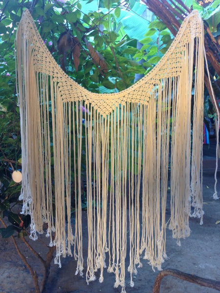 Macrame Curtains, Bohemain Tapestry, Boho Tapestry, Boho Wall Tapestry, Macrame Wall Art, Macrame Lace Curtains - Socially Positive! - Mission Hammocks - 4