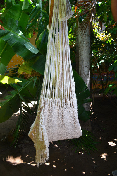 Hanging Hammock Chair With Macrame **Solid Color** Swing Chair Mission Hammocks - Mission Hammocks - 3