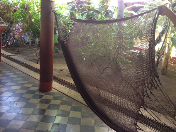 Coffee Mayan Double Hammock Indoor/Outdoor Cotton Hammock - Mission Hammocks - Mission Hammocks - 1