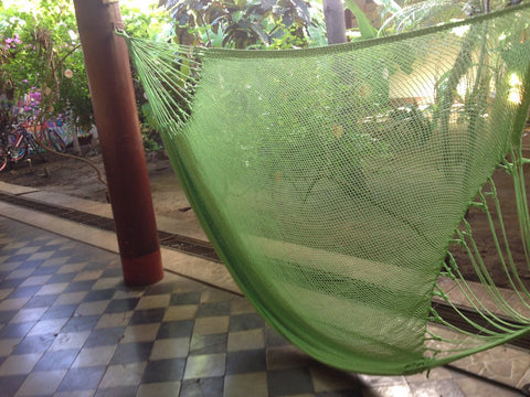 Light Green Mayan Double Hammock Indoor/Outdoor Cotton Hammock - Mission Hammocks - Mission Hammocks - 1