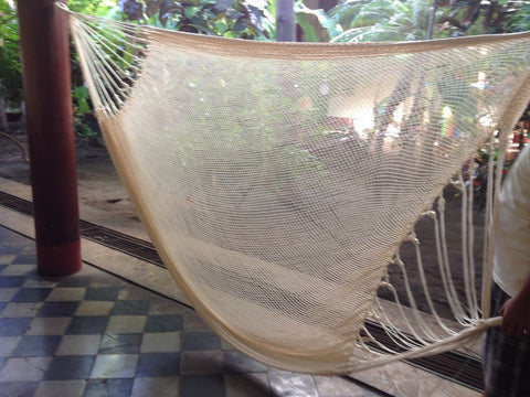 Nautical Mayan Double Hammock Indoor/Outdoor Cotton Hammock - Mission Hammocks - Mission Hammocks - 1