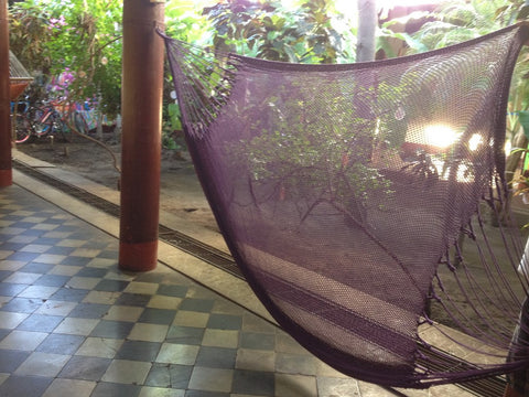Purple Mayan Double Hammock Indoor/Outdoor Cotton Hammock - Mission Hammocks - Mission Hammocks - 1