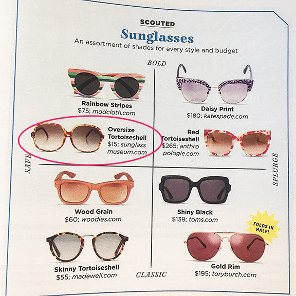 Country Living Magazine Scouts the Sunglass Museum