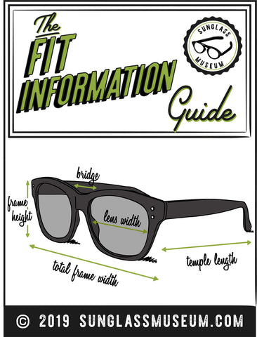 sunglass fit information illustration